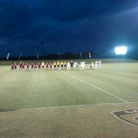 Photo taken at Corbett Soccer Stadium by Melissa J. on 9/9/2012