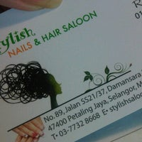 Photo taken at Stylish Nails & Hair Saloon Shop by Roy W. on 1/7/2012