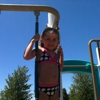 Photo taken at Lake Skinner Splash Pad by Kim M. on 8/5/2011