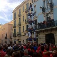 Photo taken at Plaça de la Vila de Gràcia by Daniel P. on 11/20/2011