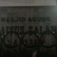 Photo taken at Masjid Agung Baitussalam by Andyan R. on 1/16/2012