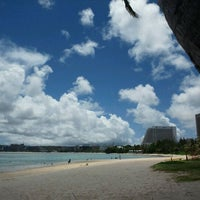 Photo taken at Ypao Beach Park by Takeshi O. on 5/6/2012