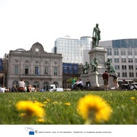 Photo taken at Luxemburgplein / Place du Luxembourg by European Parliament on 3/9/2012