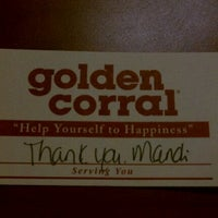 Photo taken at Golden Corral by Ena T. on 3/20/2011