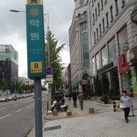Photo taken at Hak-dong Stn. by Jae Hyun K. on 9/8/2012