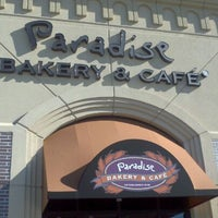 Photo taken at Paradise Bakery & Cafe by Michael H. on 1/1/2012