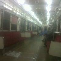 Photo taken at KRL Commuter Line Depok-Kota 17.35 wib by Don P. on 9/15/2011