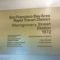 Photo taken at Montgomery St. BART Station by Emily C. on 2/28/2012