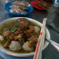 Photo taken at Bakso Amat by umminya a. on 6/17/2012