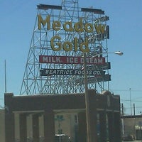 Photo taken at Meadow Gold Sign by Lauren W. on 3/24/2012