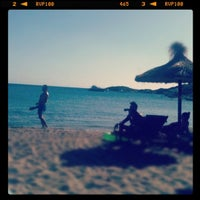 Photo taken at Porto Koundouros Beach by Miranda K. on 9/1/2012