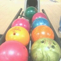 Photo taken at AMF Gulf Gate Lanes by Amanda T. on 2/26/2012