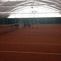 Photo taken at TCM   Tennisclub Merelbeke by Ief N. on 2/19/2012