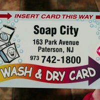 Photo taken at Soap City Laundromat by Ana R. on 8/13/2012
