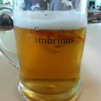 Photo taken at Cervecería Gambrinus by Victor P. on 7/13/2012