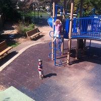 Photo taken at Frick Park Blue Slide Playground by Sean C. on 8/16/2012