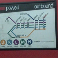 Photo taken at Powell MUNI Metro Station by Anni Y. on 6/5/2012