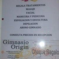 Photo taken at Origin Spa Gym by Carlos M. on 7/11/2012
