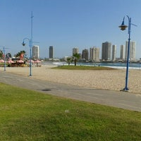 Photo taken at Playa Cavancha by Christian M. on 4/16/2012