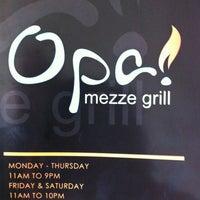 Foto scattata a Opa Mezze Grill da Joe L. il 3/8/2012