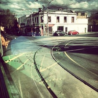 Photo taken at Tram Stop 112 - Elgin/Lygon St by Peter W. on 6/15/2012