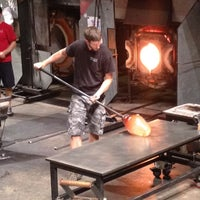 Photo taken at The Hot Shop at the Museum Of Glass by Carlos on 8/18/2012