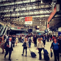 Photo taken at London Waterloo Railway Station (WAT) by Ree S. on 7/9/2012