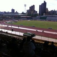 Photo taken at Estádio Willie Davids by Ricardo Jamal K. on 7/22/2012
