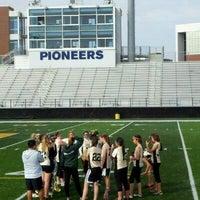 Photo taken at Memorial Field EGR Stadium by 👑 JoAnne R. on 3/24/2012