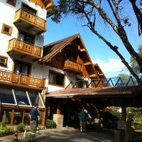 Photo taken at Bavária Sport Hotel by Gisele L. on 7/23/2012