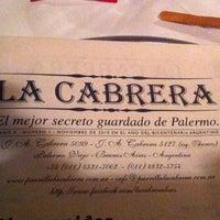 Photo taken at La Cabrera by Valerio F. on 4/13/2011