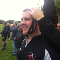 Photo taken at Uxbridge Rugby Club by Matthew C. on 9/10/2011