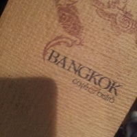 Photo taken at Bangkok Cafe by Bruna D. on 11/15/2011