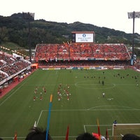 Photo taken at IAI Stadium Nihondaira by Teddy on 10/2/2011