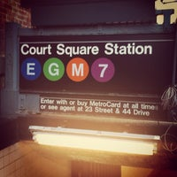 Photo taken at MTA Subway - Court Square (E/G/M/7) by Aaron L. on 11/11/2011