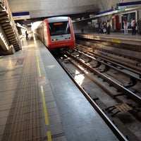 Photo taken at Metro Quilín by Camilo C. on 2/9/2012