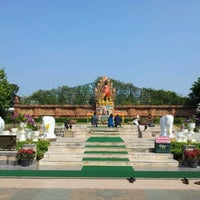 Photo taken at Statue of Queen Chamadevi by A B. on 12/26/2011