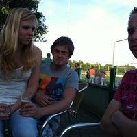 Photo taken at Christelijke voetbalvereniging Achilles by Anne-Marije H. on 5/26/2012