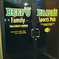 Photo taken at Beef 'O' Brady's by Kathy C. on 3/4/2012