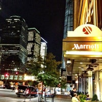 Photo taken at New York Marriott Downtown by Zorrie on 9/1/2012