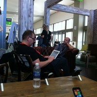 Photo taken at Microsoft Lounge - Featuring Win Phone and Windows by Marie K. on 3/11/2012