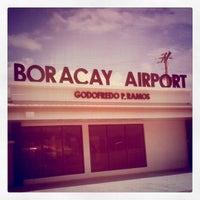 Photo taken at Godofredo P. Ramos Airport (Boracay Airport) / Caticlan Airport (MPH/RPVE) by Monica Nina B. on 8/5/2012