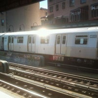 Photo taken at MTA Subway - M Train by Peter R. on 10/9/2011