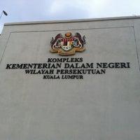 Photo taken at Kompleks Kementerian Dalam Negeri (KDN) by Ahmad Azka M. on 10/10/2011