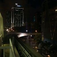 Photo taken at MDT Metromover - Brickell Station by Melany V. on 11/4/2011