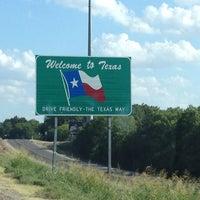 Photo taken at Oklahoma / Texas Border by Kristen M. on 7/24/2012