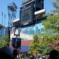 Photo taken at Panasonic Skype Station - US Open by Nanette D. on 9/3/2011