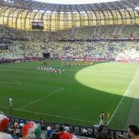 Photo taken at Stadion Energa Gdańsk by Andrea Z. on 6/10/2012