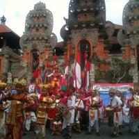 Photo taken at Panggung Terbuka Balai Budaya Gianyar by Cadex W. on 8/8/2011