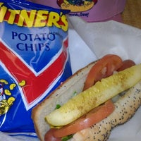 Photo taken at Vienna Beef Factory Store & Cafe by Lisa P. on 4/10/2012